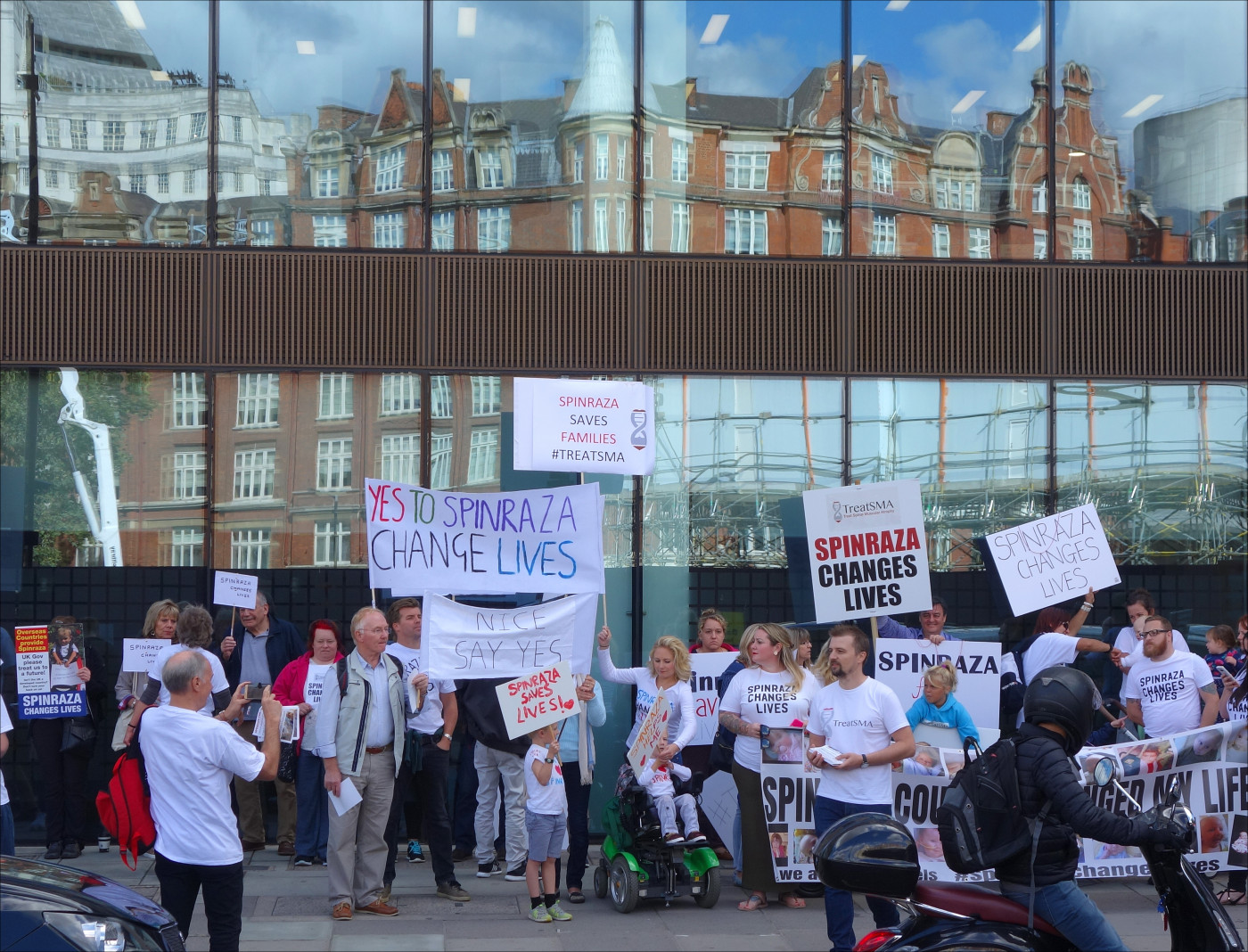 Spinraza protests