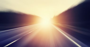 apitegromab in treating SMA/SMA News Today/sunrise on an open road