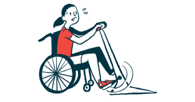 Lung and upper limb function | SMA News Today | Illustration of female in wheelchair