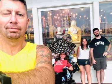 Travel with SMA | SMA News Today | Halsey's family poses for a selfie on Disney's Boardwalk.
