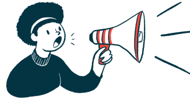 Novartis finishes Zolgensma negotiations in Canada/SMA News Today/woman with megaphone announcement illustration